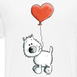 West Highland White Terrier - Dog With Heart Long sleeve shirts - Men's Premium T-Shirt
