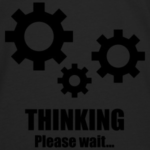 Thinking... please wait T-shirts - Herre premium T-shirt med lange ærmer