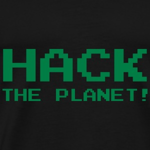 Hack the Planet ! Gensere - Premium T-skjorte for menn