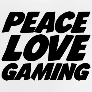 Peace Love Gaming Camisetas - Camiseta bebé