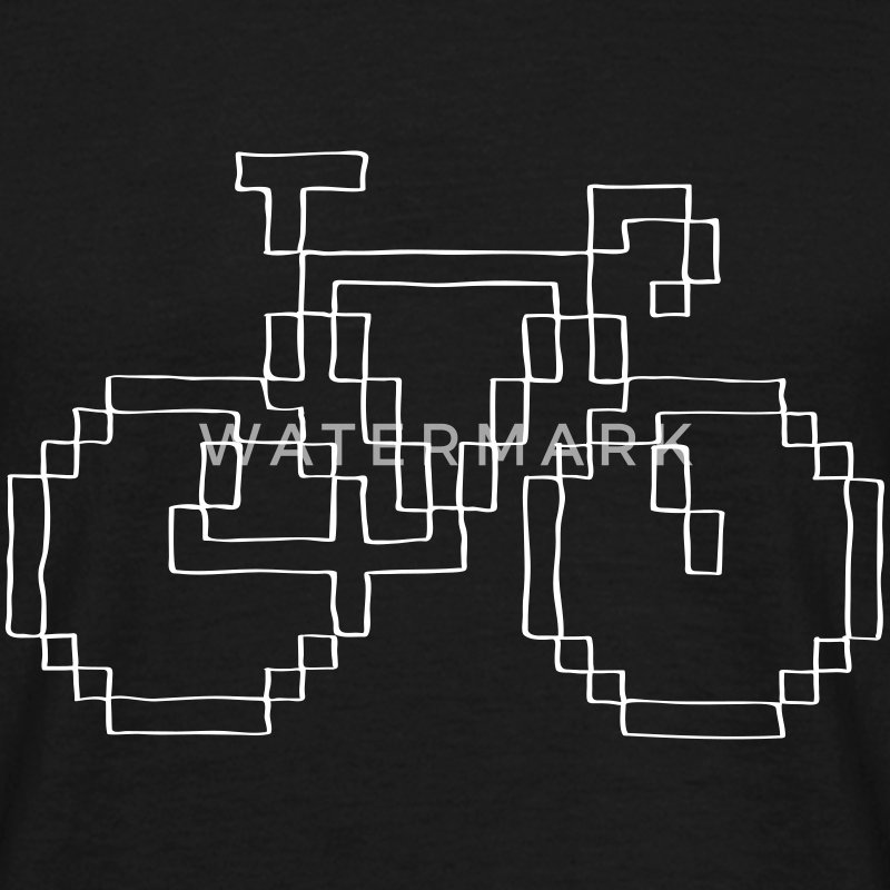 Pixel Hand Drawn Bike T-shirts - Mannen T-shirt