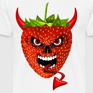 devil strawberry fraise skull Manches longues - T-shirt Premium Homme