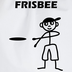 Mannetjes met frisbee Shirts - Gymtas
