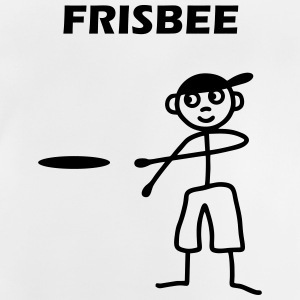 Mannetjes met frisbee Shirts - Baby T-shirt