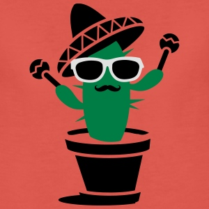Cactus with sombrero and maracas  Tops - Women's Premium T-Shirt