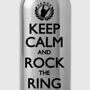 Keep Calm And Rock The Ring, Festival Shirt T-Shirts - Trinkflasche
