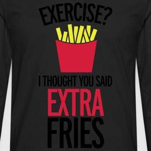 Extra Fries T-Shirts - Men's Premium Longsleeve Shirt
