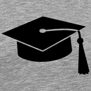 graduation hat v2 Tops - Men's Premium T-Shirt