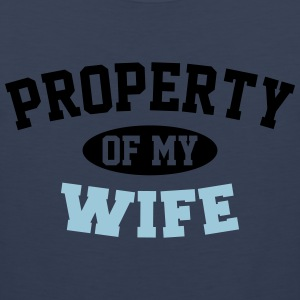 Property Of My Wife T-Shirts - Men's Premium Tank Top