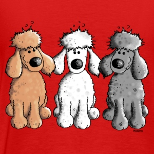 Three Funny Poodle - Dog - Dogs Long Sleeve Shirts - Men's Premium T-Shirt