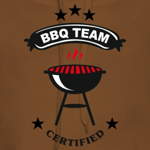 BBQ team certified Tee shirts - Sweat-shirt à capuche Premium pour femmes