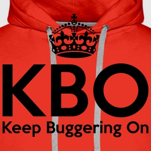 KBO - Keep Buggering on T-Shirts - Men's Premium Hoodie