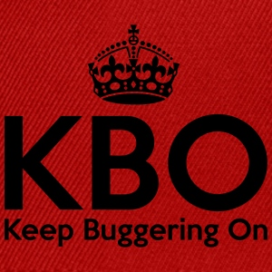 KBO - Keep Buggering on T-Shirts - Snapback Cap