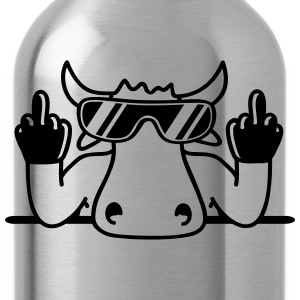 Fuck off you offend middle finger Bull T-Shirts - Water Bottle