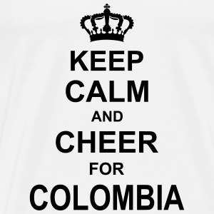 keep_calm_and_cheer_for_colombia_g1 Singlets - Premium T-skjorte for menn