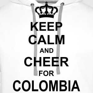 keep_calm_and_cheer_for_colombia_g1 T-shirts - Mannen Premium hoodie
