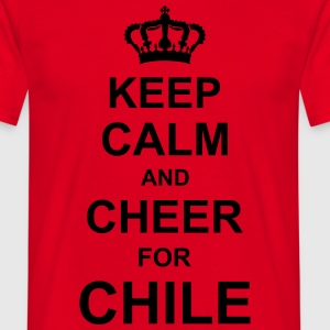 keep_calm_and_cheer_for_chile_g1 Forklæder - Herre-T-shirt