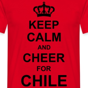keep_calm_and_cheer_for_chile_g1  Aprons - Men's T-Shirt