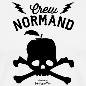 Crew Normand Black Skull Tabliers - T-shirt Premium Homme