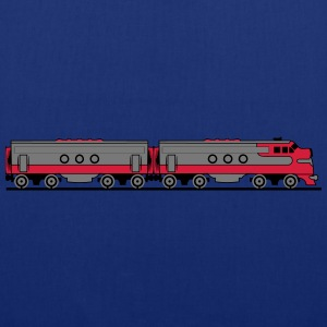 Train railway diesel locomotive wagons T-Shirts - Tote Bag
