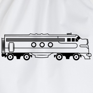 Train railway diesel locomotive T-Shirts - Drawstring Bag
