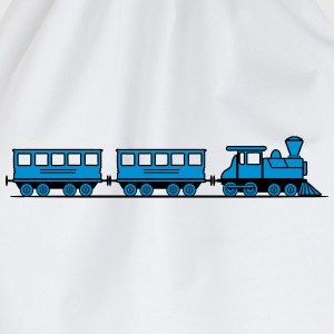 Train railroad steam locomotive wagons T-Shirts - Drawstring Bag