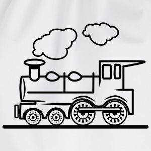 Train railroad steam locomotive T-Shirts - Drawstring Bag
