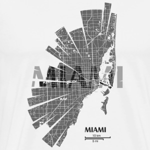 Miami Map Tank Tops - Men's Premium T-Shirt