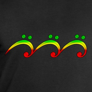 Reggae, music, notes, bass clef, wave, surf,  T-skjorter - Sweatshirts for menn fra Stanley & Stella