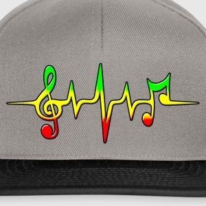 Reggae, music, notes, pulse, frequency, Rastafari Camisetas - Gorra Snapback