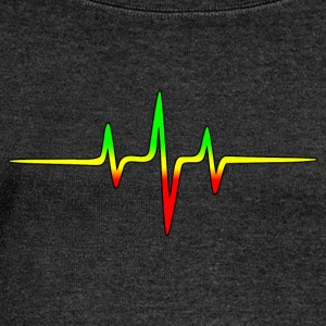 Reggae, music, notes, pulse, frequency, Rastafari Camisetas - Sudadera con escote drapeado mujer