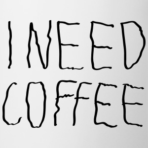 I Need Coffee T-skjorter - Kopp