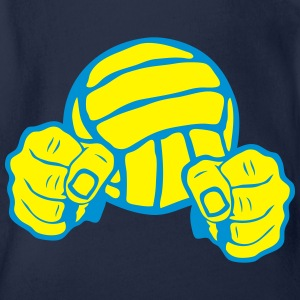 volleyball ballon poing fermer combatant Tee shirts - Body bébé bio manches courtes