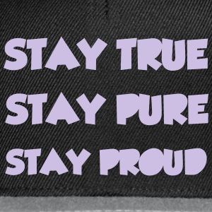 Stay True T-shirts - Snapback cap