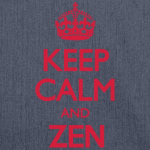 Keep Calm and Zen T-Shirts - Shoulder Bag made from recycled material