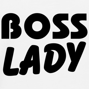 Boss Lady Flasker & krus - Herre premium T-shirt