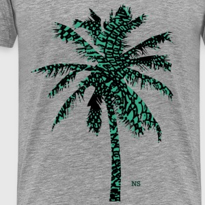 Green retro palmtree Tops - Men's Premium T-Shirt