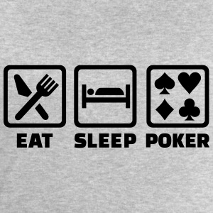 Eat sleep Poker T-Shirts - Männer Sweatshirt von Stanley & Stella