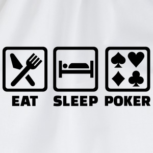 Eat sleep Poker Flaschen & Tassen - Turnbeutel