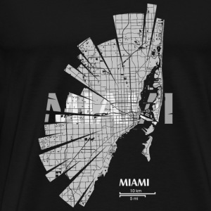 Miami Map Bags & Backpacks - Men's Premium T-Shirt