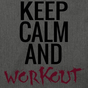 Keep Calm And Workout Pullover & Hoodies - Schultertasche aus Recycling-Material