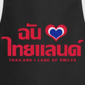 I Love (Heart) Thailand (Chan Rak Thailand) Tops - Cooking Apron