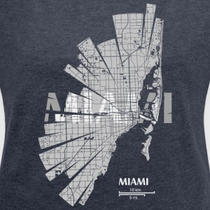 Miami Map Hoodies & Sweatshirts - Women's T-shirt with rolled up sleeves