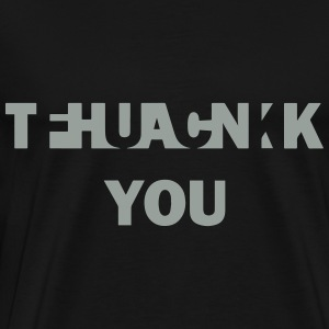 Fuck Thank You Sweaters - Mannen Premium T-shirt