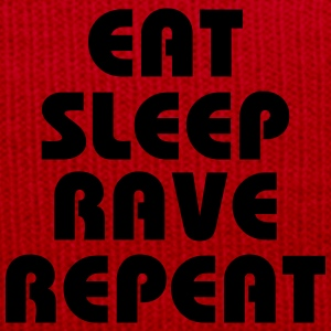 Eat, sleep, rave, repeat Camisetas - Gorro de invierno