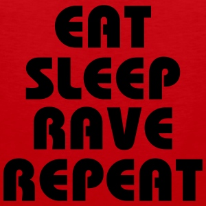 Eat, sleep, rave, repeat T-shirts - Premiumtanktopp herr