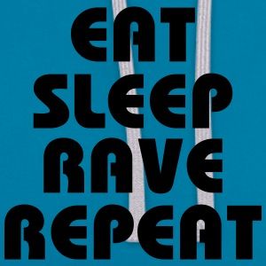 Eat, sleep, rave, repeat T-skjorter - Kontrast-hettegenser
