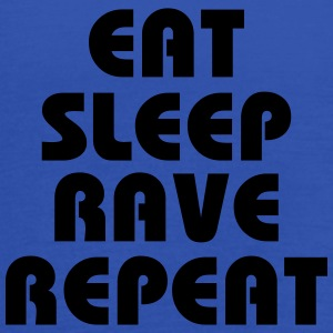 Eat, sleep, rave, repeat T-shirts - Tanktopp dam från Bella
