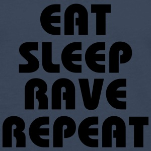 Eat, sleep, rave, repeat T-skjorter - Premium langermet T-skjorte for menn