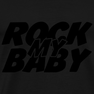Rock my Baby Gensere - Premium T-skjorte for menn